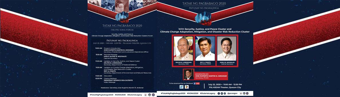 Tatak ng Pagbabago Pre-SONA Forum