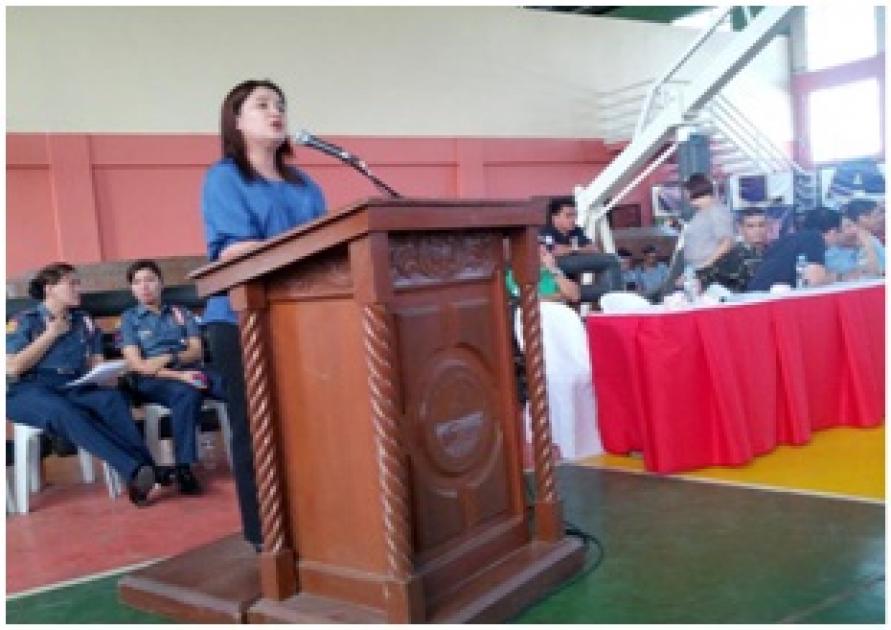 photo of PD Apostol stating role of barangay councils in Pampanga